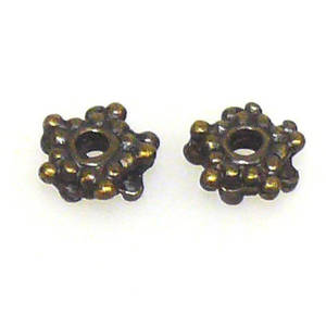 Metal Spacer:  7mm double spacer - brass