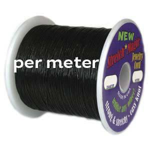 1mm Black Stretch Cord- per meter