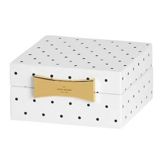 kate spade new york Garden Drive Spot Square Jewellery Box