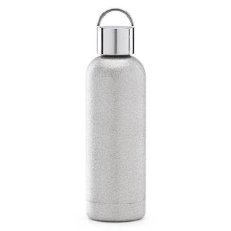 ksny silver glitter hydration bottle 500ml