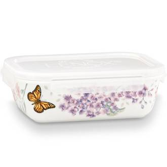 Butterfly Meadow Rectangular Serve 'n' Store 20cm