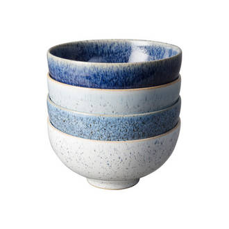 Studio Blue Rice Bowl Set 4