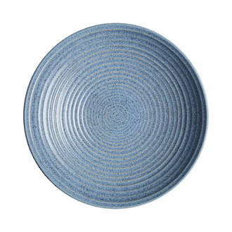 Studio Blue Ridged Bowl Large - Flint