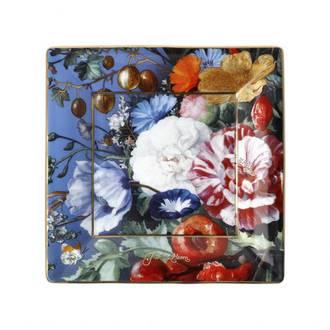 Summer Flowers Square Plate, de Heem 12cm
