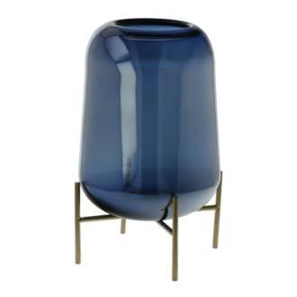 Deep Ocean Glass Vase 27cm