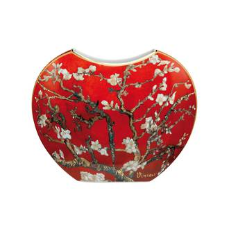 Almond Tree Red Vase 20cm