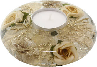 Gold Rose Mini Tealight 11cm