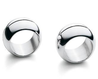 Moon Napkin Rings 4 piece