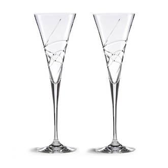 Adorn Toasting Flutes, pair
