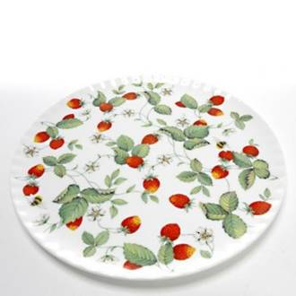 Alpine Strawberry Cake Plate