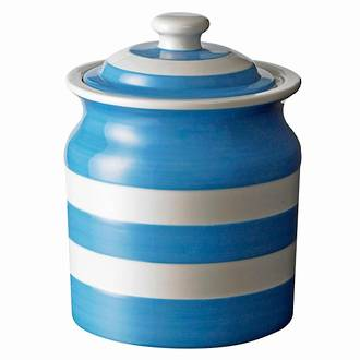Cornish Blue Storage Jar Plain 60oz