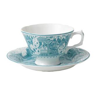 Royal Crown Derby Mikado Turquoise Teacup & Saucer