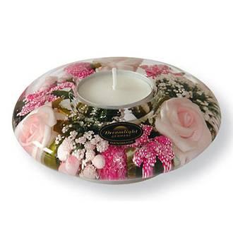 Pink Rose Mini Tealight 11cm