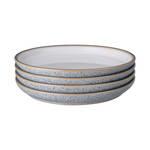 Studio Grey Medium Plate 21cm, White set of 4