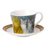 Ivory Cats Breakfast Cup & Saucer