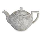 Dove Grey Calico Teapot