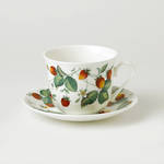 Alpine Strawberry Breakfast Cup & Saucer