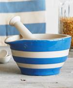 Cornish Blue Mortar and Pestle