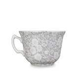 Dove Grey Calico Teacup