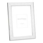 Silver Link Frame White 5x7
