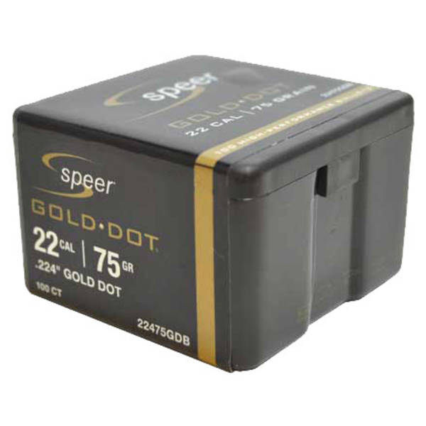 Speer Gold Dot 22cal 75gr x100 #22475GDB
