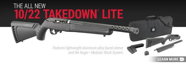 Ruger 10/22 Takedown Lite Threaded 22LR