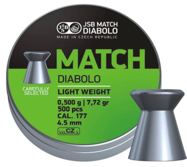 JSB Green Match Light Weight .177 7.33gr #0005-500