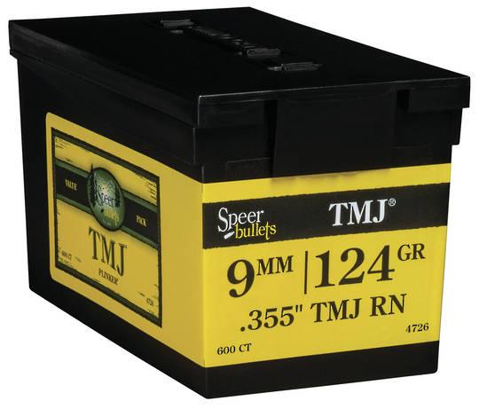 Speer 9mm 124gr .355 TMJ RN Box 600