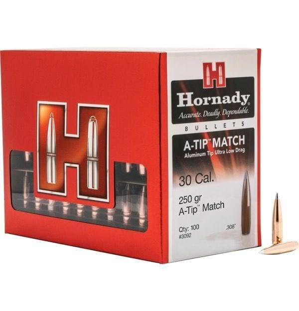Hornady A-Tip 30Cal 250gr Match x100 #3092