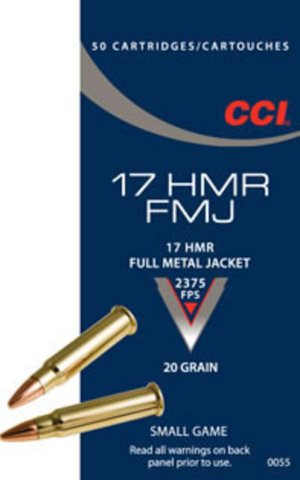 CCI FMJ 17HMR 20gr FMJ x50