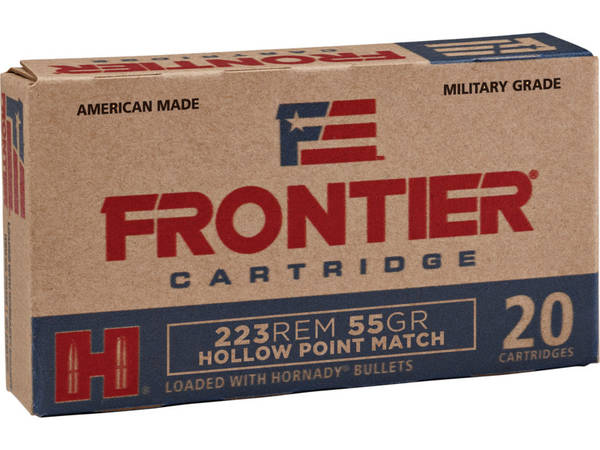 Hornady Frontier Ammunition 5.56 NATO 55gr HP 77134