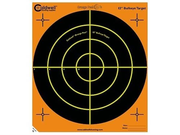 "Caldwell Orange Peel 12"" Bullseye Targets 5 Pack"