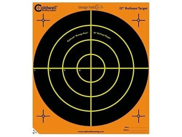 """Caldwell Orange Peel 16"""" Bullseye Targets 5 Pack"""