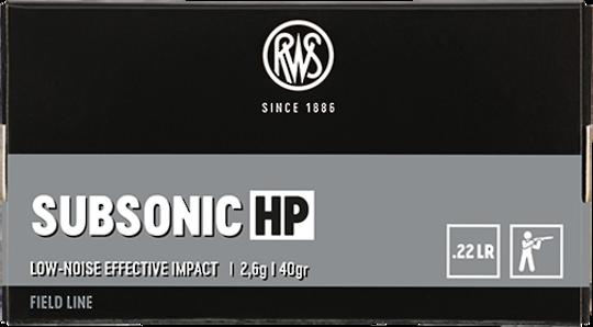 RWS 22LR Field Line Subsonic HP (500rds)