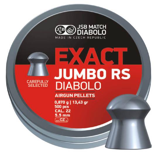 JSB Exact Jumbo RS .22cal 13.43gr x500