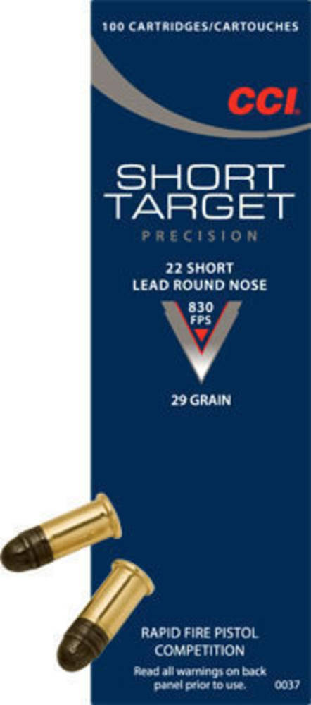 CCI 22 Short Target 100 Rounds #0037