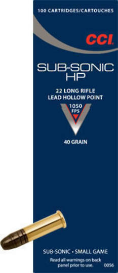 CCI Subsonic 22LR HP 500 Rounds