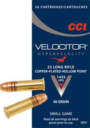 CCI Velocitor 22LR 50 Rounds