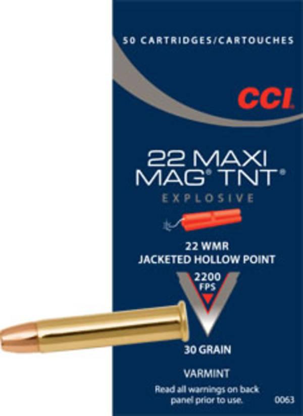 CCI Maxi Mag TNT 22WMR 30gr JHP x50