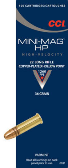 CCI Mini Mag 22LR 36gr HP 500 Rounds