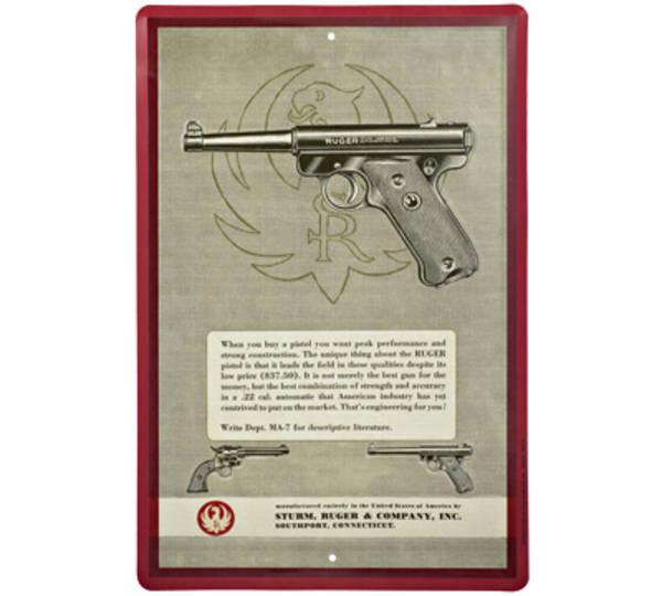Ruger MK1 Pistol Tin Sign