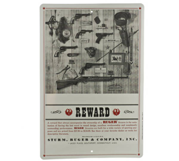 Ruger Reward Tin Sign