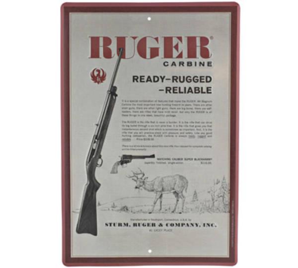 Ruger Carbine Tin Sign
