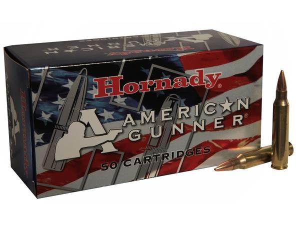 Hornady American Gunner Ammo 223 55gr HP #80237 50 Rounds