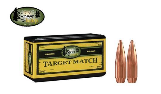 Speer Target Match 30 cal 168gr BTHP #2040