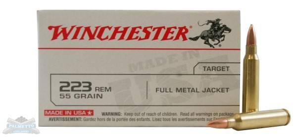 Winchester 223 Rem 55gr FMJ 20 Rounds