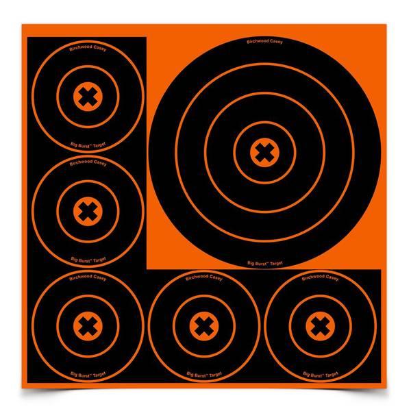 "Birchwood Casey Big Burst 3x8"", 15x4"" Bull's Eye Revealing targets"