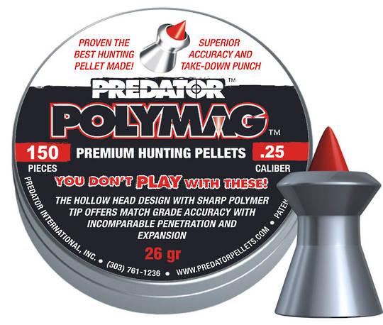 JSB Predator Poly Mags .25cal - 26gr x150pcs