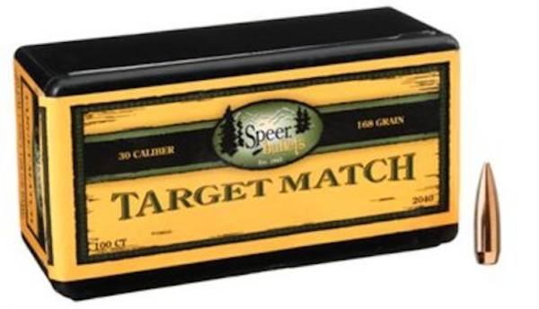 Speer Target Match 30 cal 168gr BTHP 2040