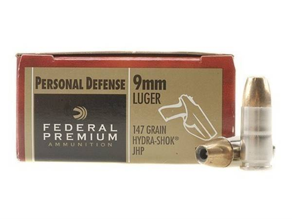 Federal Premium 9mm Luger 147gr JHP x20